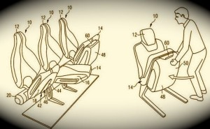 Airbus foldable seat